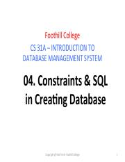 Lecture 04 Constraints _ SQL in Creating DB.pdf