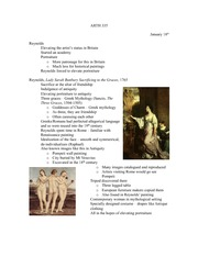 Lecture 3 notes, 18th century art classicism
