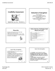 PPT Credibility Assessment