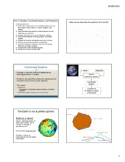 Coordinate Systems, Projections, and Scale Lecture Slides