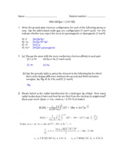 MSE160 2014 Quiz 1 (Ver.3) Solutions