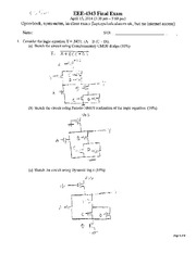 Final Exam Solution Spring 2014 on Introduction to Digital Electronics