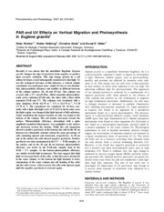 peer reviewed article for euglena light