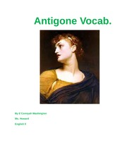 Antigone Vocab