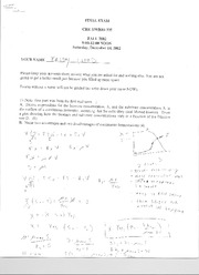 Final Exam 2002 Solutions