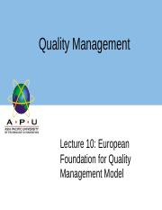 Lec10 EuropeanFoundationforQualityManagementModel.ppt