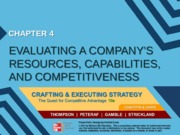 Strategy chapter 4 - Evaluating a company's resources, capabilities and competitiveness - MM