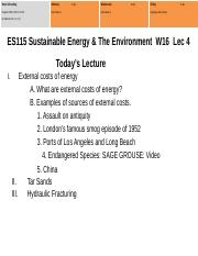 ES115KEY#4 External Energy Costs  Fossile Fuels W16.pptx