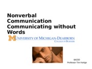 Nonverbal Comm
