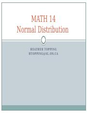MATH 14 Lecture 7 (Normal Distribution)(1)