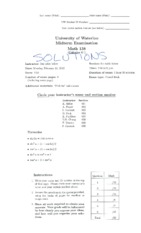M138 Winter '13 Midterm Solutions