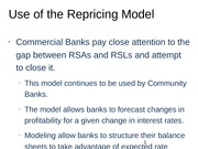 Use of the Repricing Model