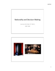 Lec 20 Rationality and Decision Making