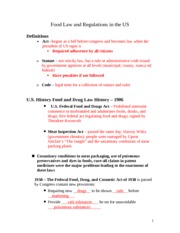 Food and Drug Law Student Notes 2012