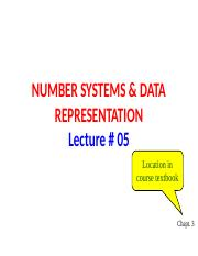 Lec  05 Number Systems & Data Representation.pptx