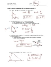 Chapter 9 Test Review Solutions - Precalculus Honors Chapter