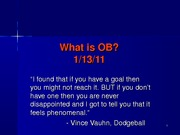 What is OB 1-13-11 post