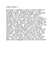Project Review 3