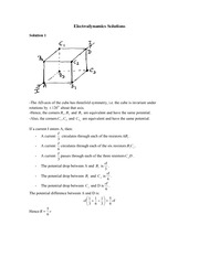 Electrodynamics Solutions