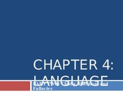 Chapter 4 Language (Day Two - Clarity, Emotion, and Fallacies)