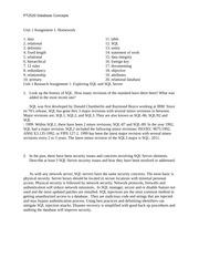 database concepts unit 8 assignment 1