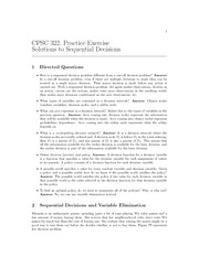 CPSC 322 Fall 2010 Excercise Worksheet 13 Solutions