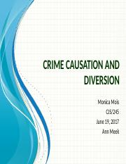 crime causation and diversion Write a 1,050- to 1,400-word paper comparing two juvenile diversion,  intervention, or prevention programs operating in your city or state include the  following in.