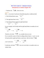 MCV 4U Introduction to Calculus Chapter Test.docx