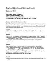 ENG111OnlineSU17CourseOutline