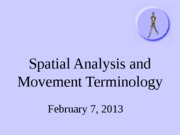 Spatial Analysis and Movement Terminology (1)