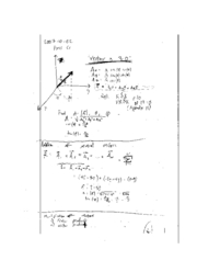 PHYSCS 31 F07 lecture notes: Vectors in three dimensions