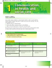 BTECLevel2FirstHealthandSocialCareStudentBookSampleMaterial-Unit1CommunicationinHealthandSocialCare