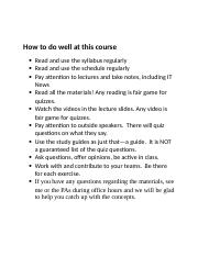 How to do well at this course.docx
