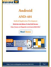 AND-401 Actual Questions Free PDF Demo.pdf