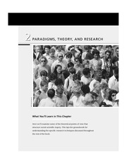 Chapter 2 - Paradigms Theory & Research