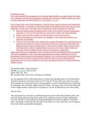 3 pages informative memo sample with feedback