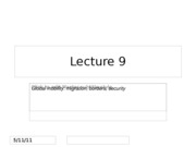 Lecture 9_Global mobility_migrants, borders, security