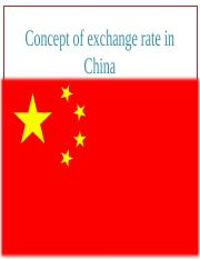 China.Exchange rate