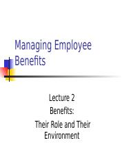 Lecture02 - Role of and Environment for Benefits.pptx