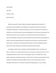 sociology of sexuality essay essentialism and social  3 pages sexuality exam 1 essay 1