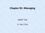 Chapter B1: Managing