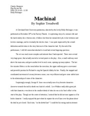 play review 3 machinal