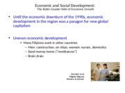 Economic and Social Development for SE Asia