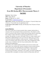 Outline-Econ 302-Fall 2012-Section003