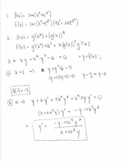 Solutions for exam two