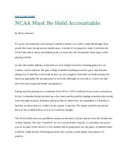 NCAA Must Be Held Accountable.docx
