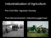 Final Research Presentation (Industrialization of American Food Industry)