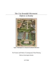 The City Beautiful Movement_Essay