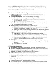 Psychology review ch. 1 and 2.docx