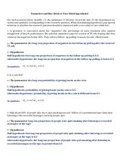 Hypothesis Worksheet solution